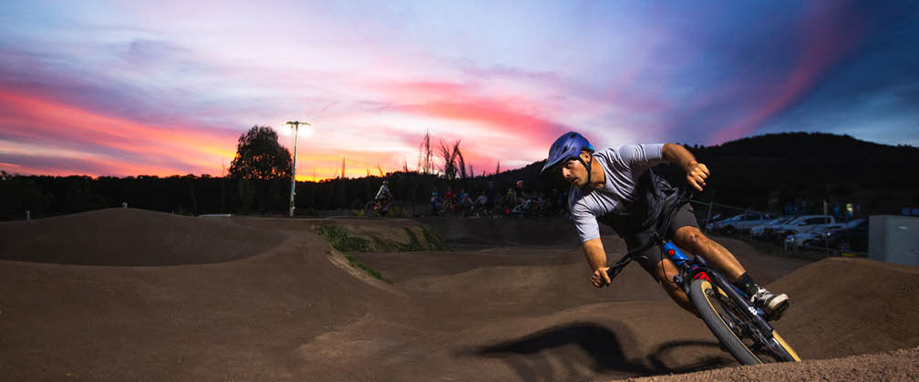 The new pump track opens on Saturday 7 December 2019