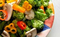 A bowl of fresh vegetables