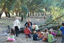 Kids at the arboretum