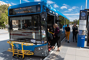 Canberran's using a bus to move around the ACT.