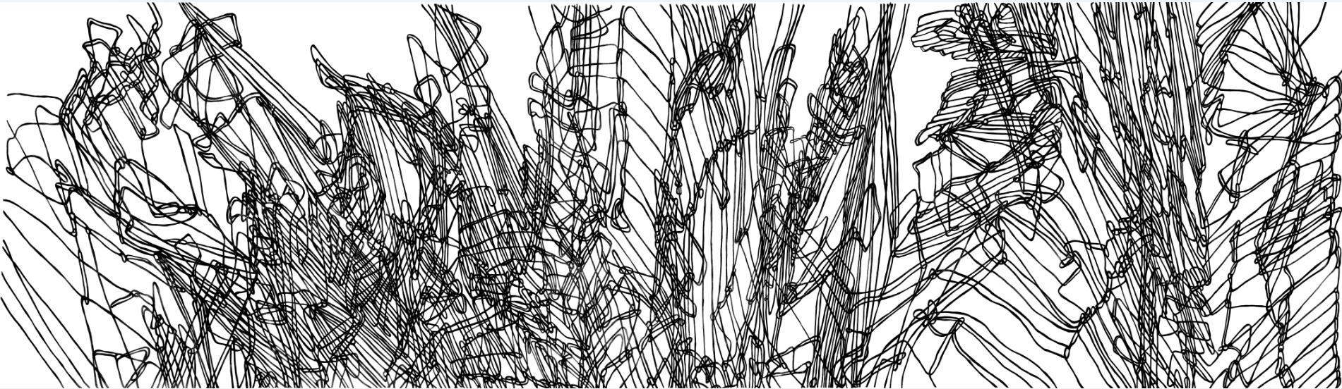 black and white lines, Hannah Quinlivan artwork