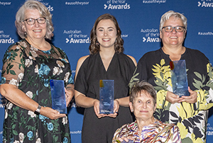 The ACT's 2020 Australian of the Year award winners (left to right) Julia Rollings, Madeline Diamond, Sue Salthouse and Katrina Fanning.