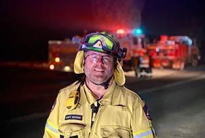RFS volunteer Gary Hooker.