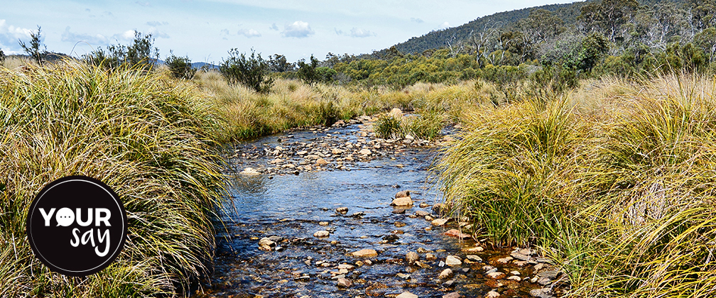 Upper Cotter River at Cotter Flats Namadgi National Park