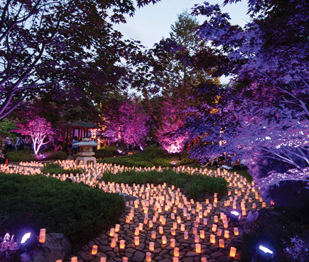 The Canberra Nara Candle Festival in Nara Peace Park
