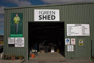 Entrance of The Green Shed.