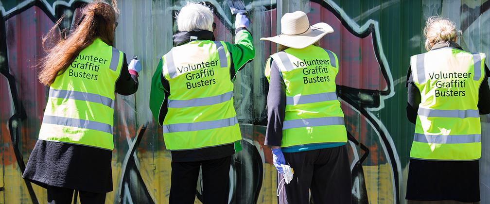 Volunteer graffiti busters
