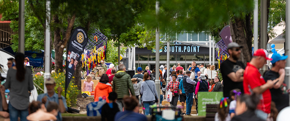 Crowds gather at Southfest in Tuggeranong last year.