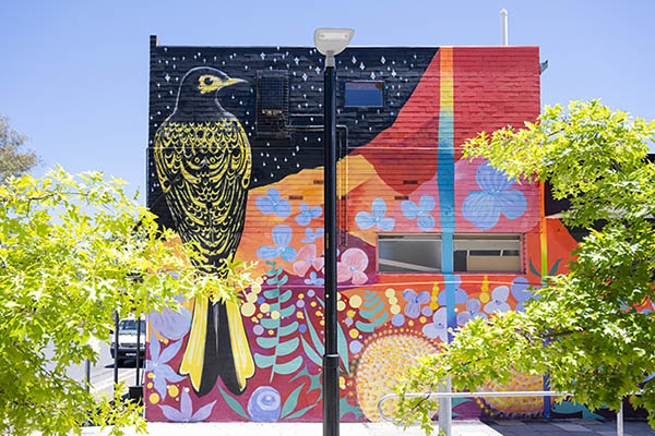 Mural at scullin shops