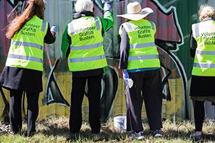 Graffiti busters volunteers