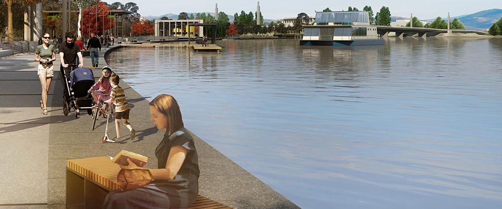 Artist impression West Basin Waterfront