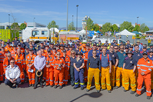 A group of Emergency Services volunteers in Canberra