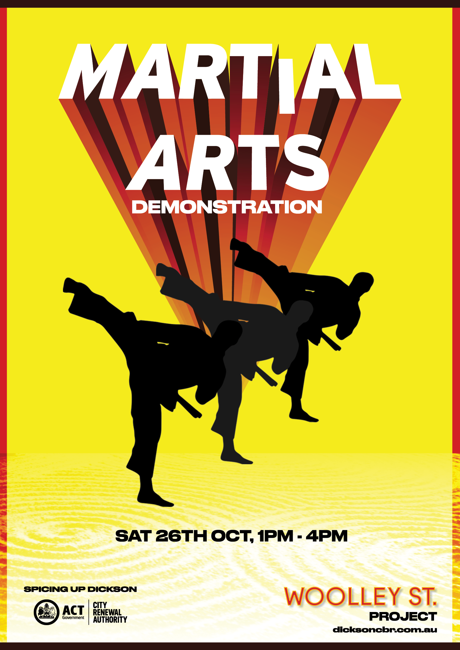 poster promoting martial arts