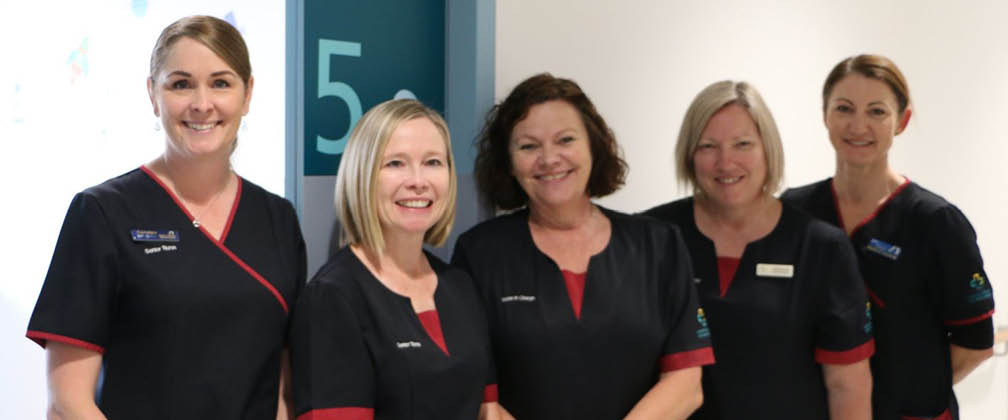 Nurses at a treatment room.