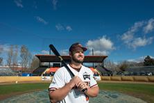 Baseball player at ball park