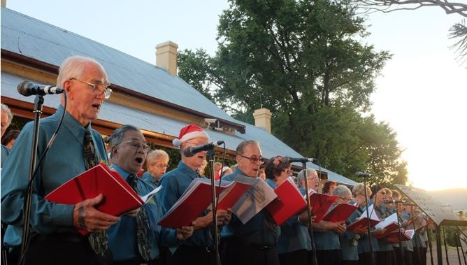 The Sing Australia Choir and Tuggeranong Valley Band will perform at Lanyon Homestead.