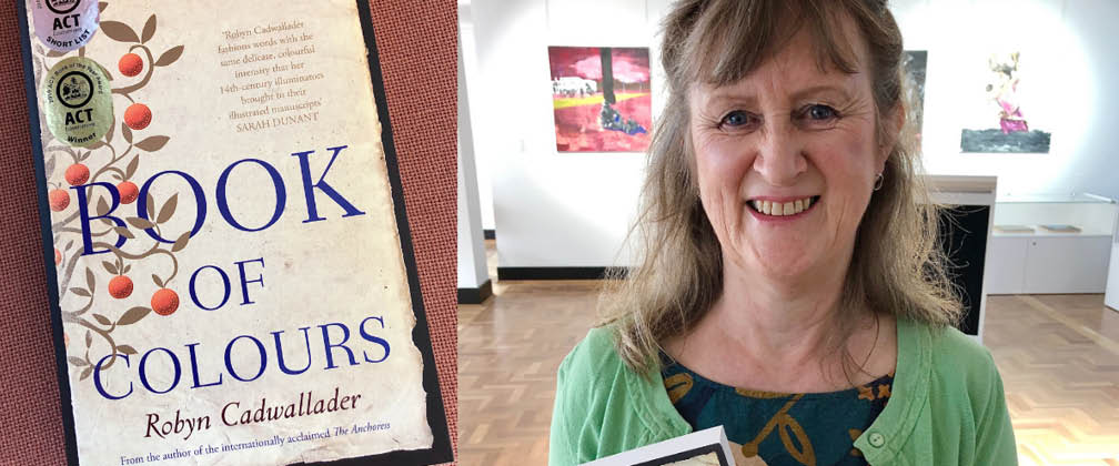 Book and author Robyn Cadwallader.