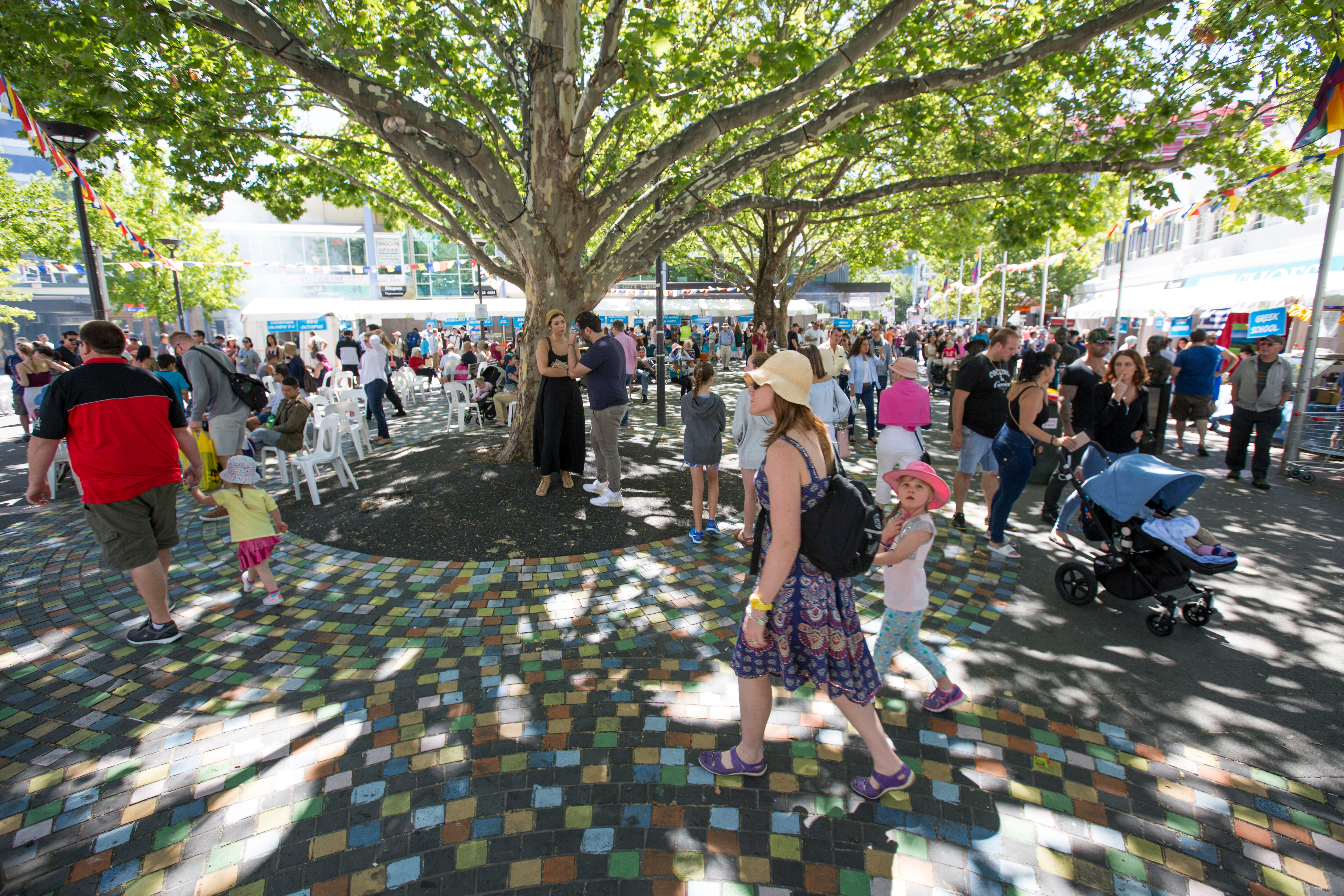 crowd of people in Garema Place
