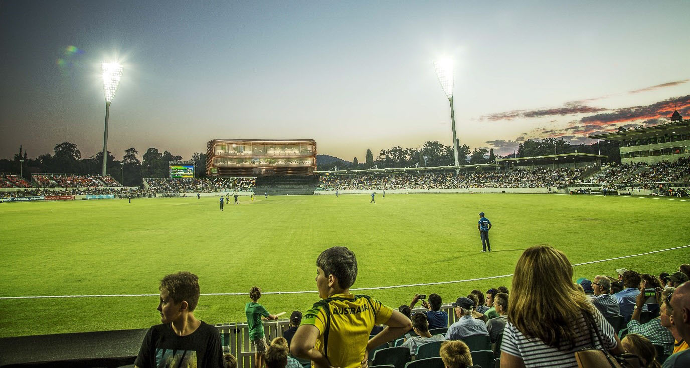 Howzat? Spectators will be welcomed back to Manuka Oval this month.
