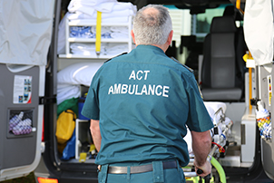 Picture of ACT Ambulance male.