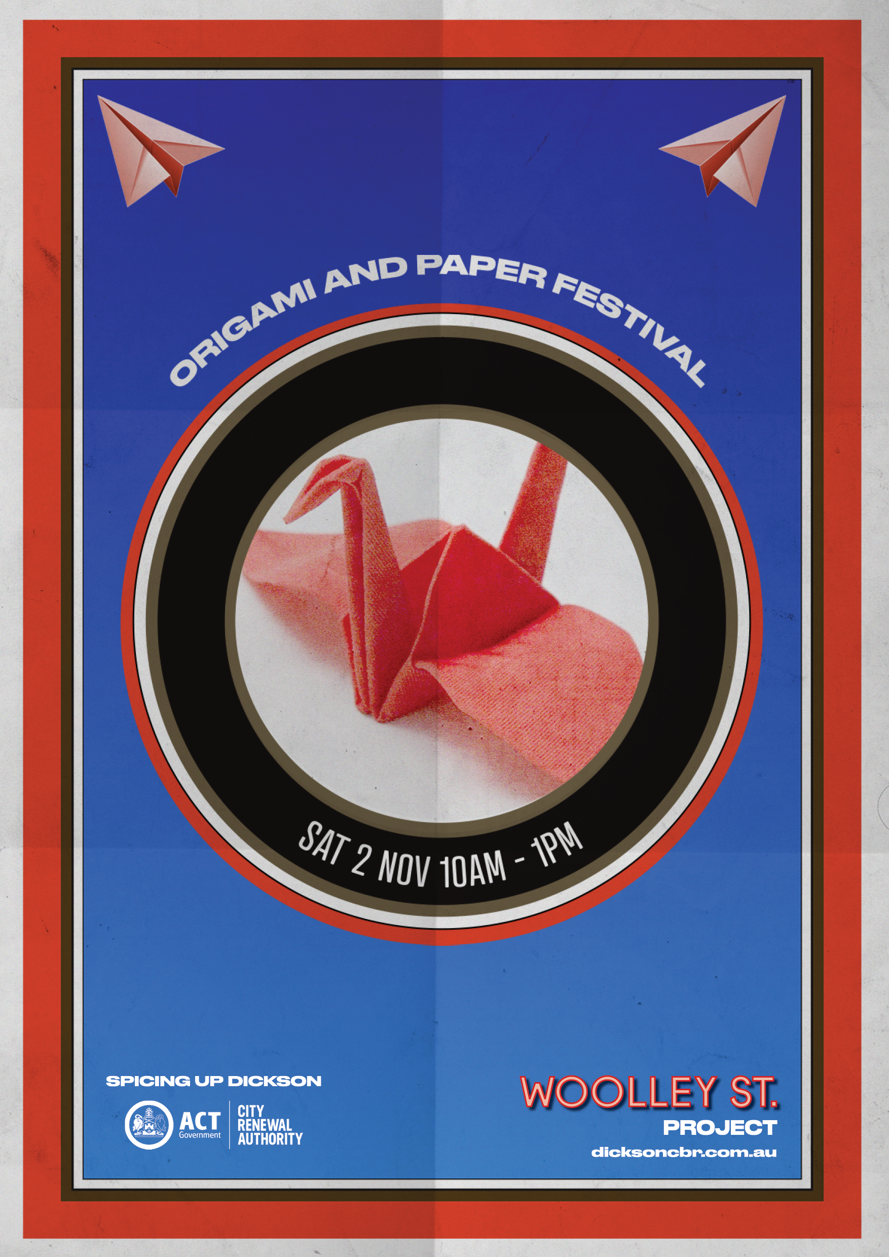 poster promoting origami workshop