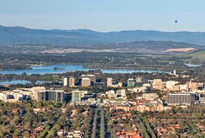 Canberra city in sunny weather