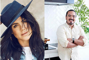 Vanessa Amorosi and Adam Liaw.