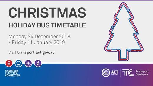 Christmas and Holiday Bus Timetable