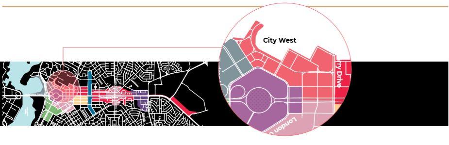 City West Precinct Map