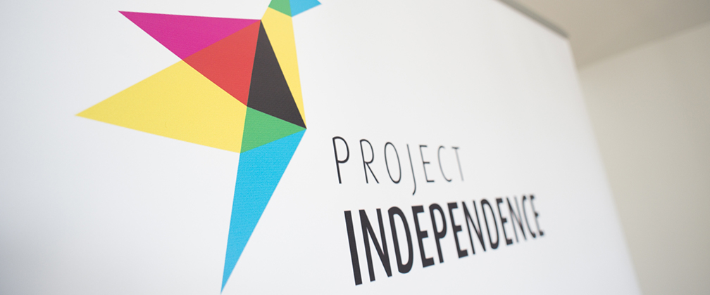 Project independence sign