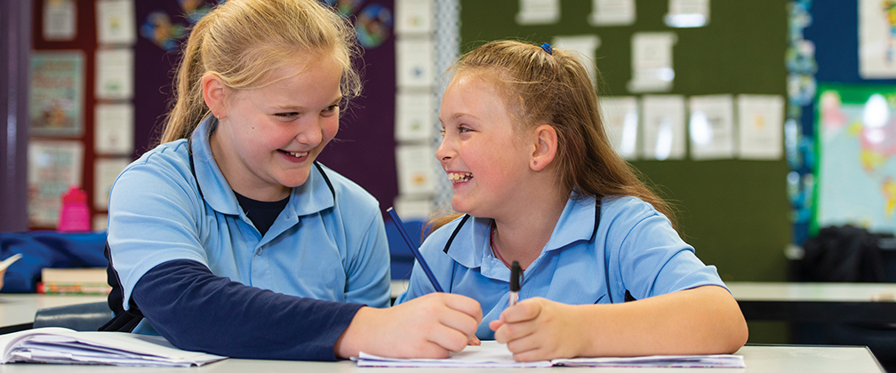Students working together at a Canberra school.