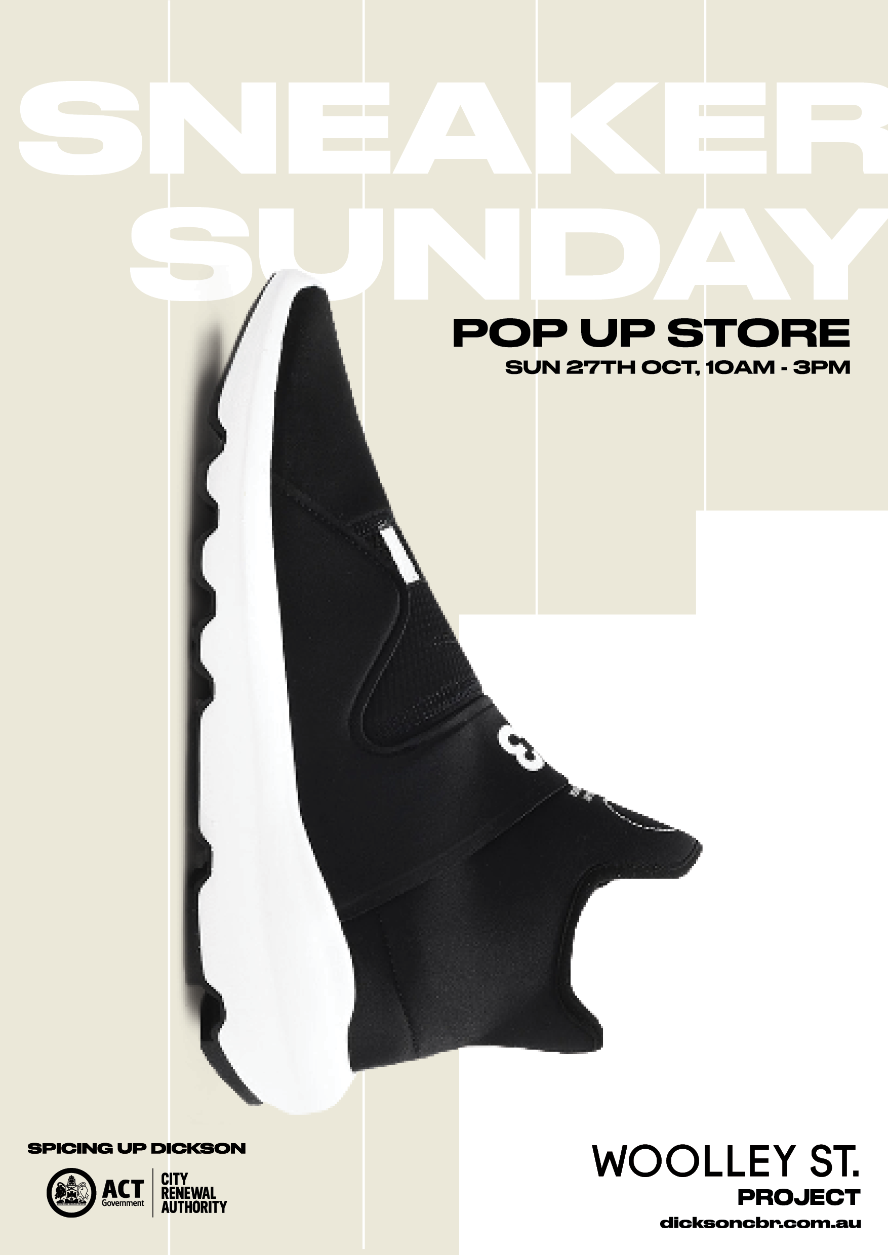 poster promoting sneaker sunday