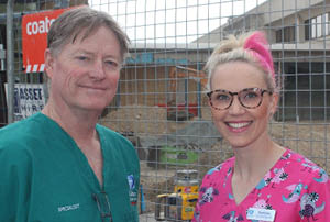 Calvary Public Hospital Emergency Medicine Director Dr Stuart Stapleton and Calvary ED Clinical Manager Shannon Davis RN.