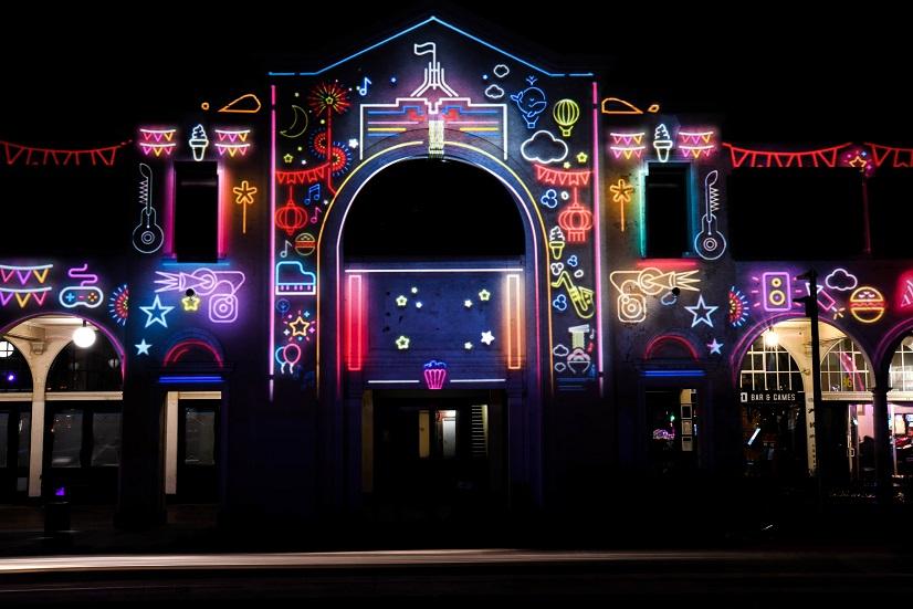 Enligten Festival 2020 branding illuminating the Sydney and Melbourne Buildings