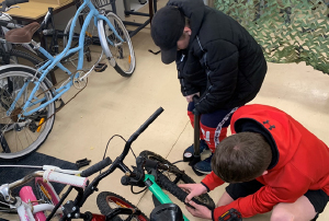 Students are building skills and resilience through the bike repair program