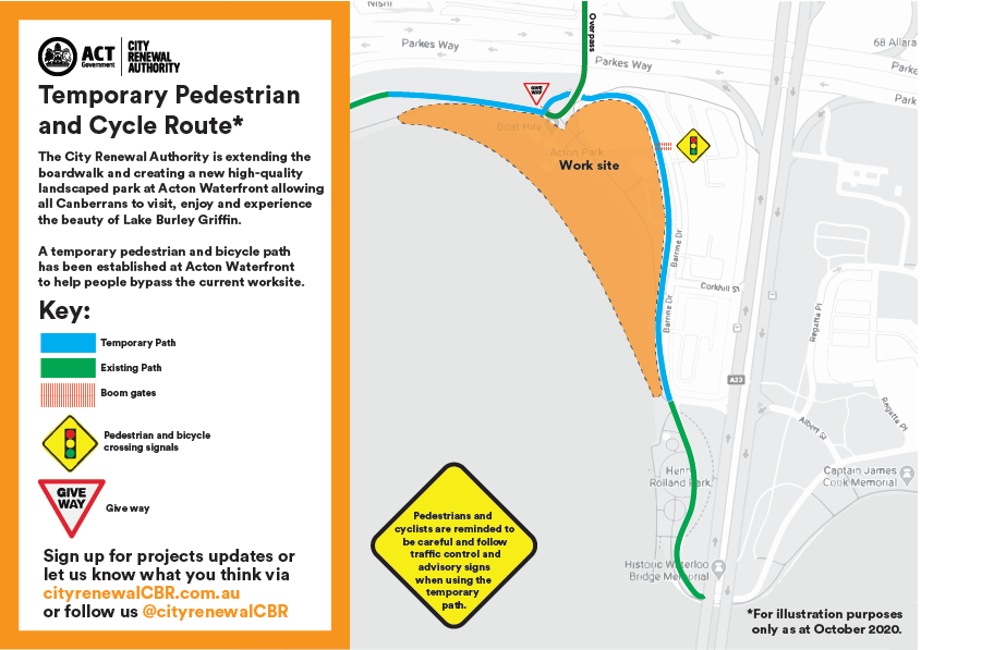 Acton Bike Path diversions October 2020