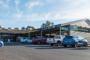 Spence shops and carpark