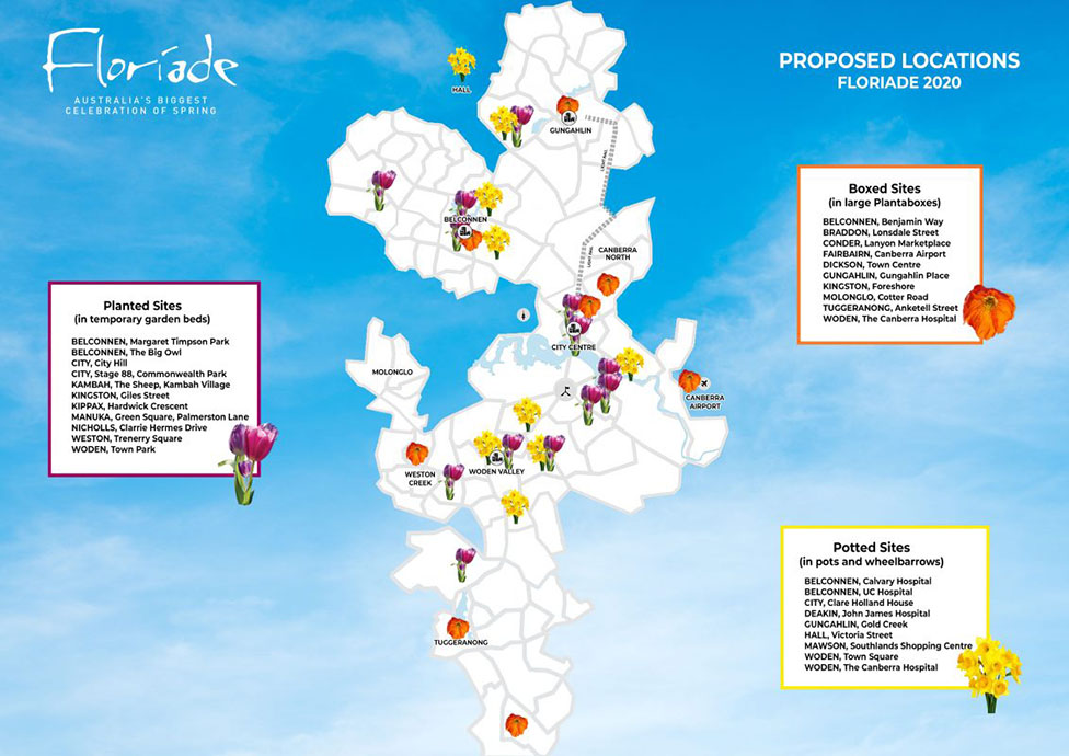 Floriade map of the new locations