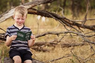 Child with Nature Play Passport