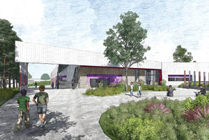 An artist's impression of what the school at Molonglo will look like.