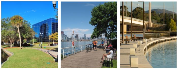 Integrated foreshore examples